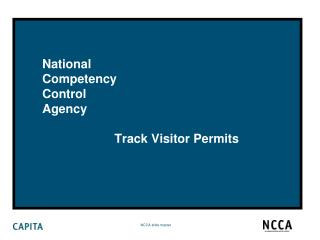 National Competency Control  Agency                      Track Visitor Permits