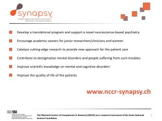 Develop a translational program and support a  novel neuroscience -based psychiatry