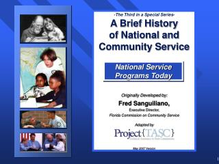 National Service Programs Today