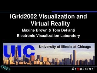 iGrid2002 Visualization and Virtual Reality Maxine Brown & Tom DeFanti