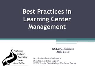 Best Practices in Learning Center Management