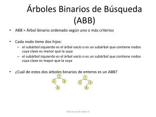 Árboles Binarios de Búsqueda (ABB)