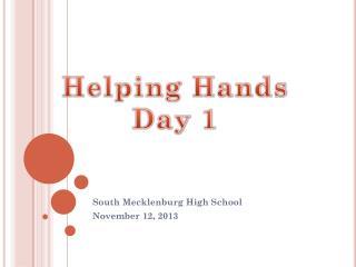South Mecklenburg High School November 12, 2013