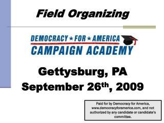 Field Organizing
