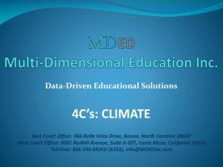 M D ED Multi-Dimensional Education Inc.