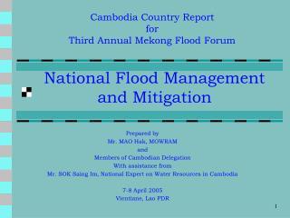 National Flood Management and Mitigation