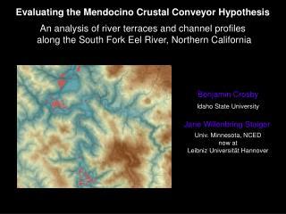 Evaluating the Mendocino Crustal Conveyor Hypothesis
