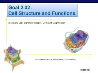 Goal 2.02: Cell Structure and Functions