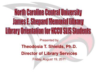 North Caroline Central University James E. Shepard Memorial Library