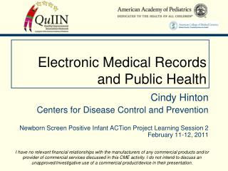 Electronic Medical Records and Public Health