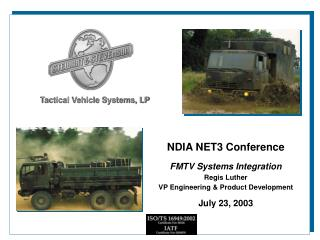 Tactical Vehicle Systems, LP