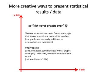 More creative ways to present statistical results / data