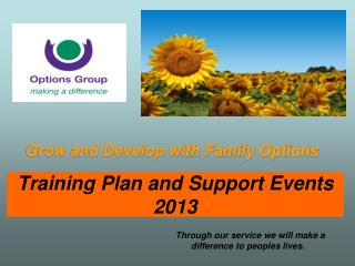 Training Plan and Support Events 2013