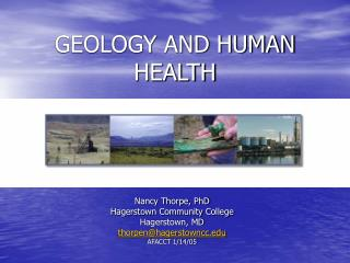 GEOLOGY AND HUMAN HEALTH