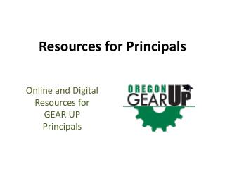 Resources for Principals