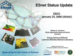 ESnet Status Update