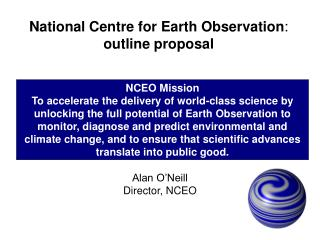 National Centre for Earth Observation :  outline proposal