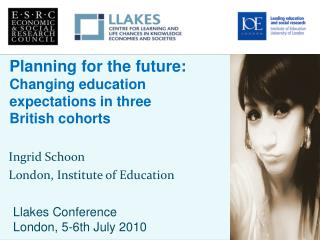 Ingrid Schoon London, Institute of Education