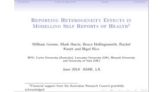 Inflated Responses in Self-Assessed Health Mark Harris Department of Economics, Curtin University