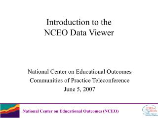Introduction to the  NCEO Data Viewer