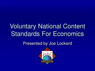 Voluntary National Content Standards For Economics