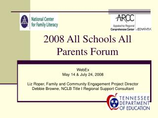 2008 All Schools All Parents Forum