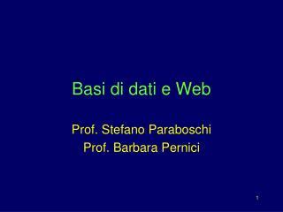 Basi di dati e Web