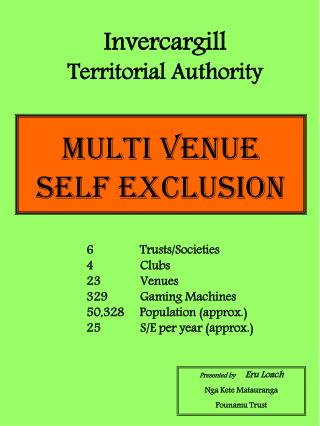 Multi Venue  Self Exclusion