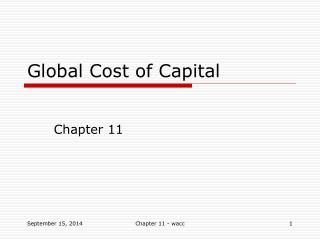 Global Cost of Capital