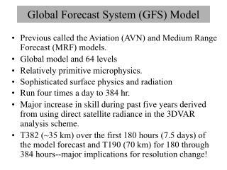 Global Forecast System (GFS) Model