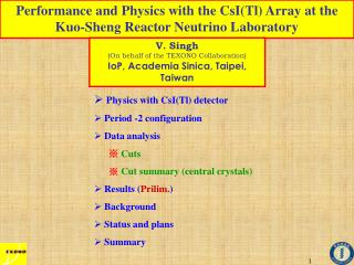 Performance and Physics with the CsI(Tl) Array at the Kuo-Sheng Reactor Neutrino Laboratory