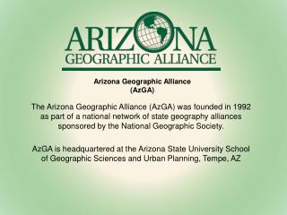 Arizona Geographic Alliance (AzGA)