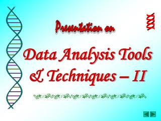 Data Analysis Tools & Techniques – II