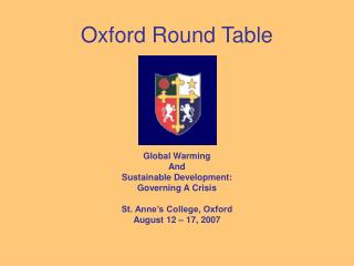 Oxford Round Table