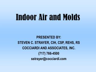 Indoor Air and Molds