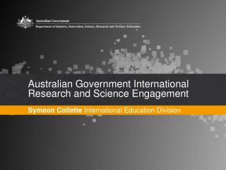 Australian Government International Research and Science Engagement