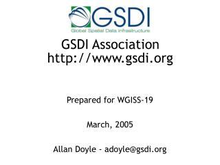 GSDI Association gsdi
