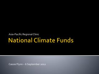National Climate Funds