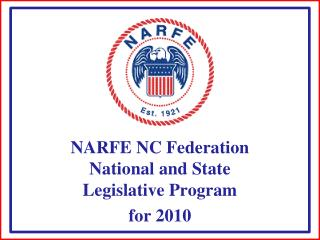 NARFE NC Federation National and State Legislative Program  for 2010