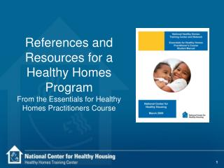 References and Resources for a Healthy Homes Program