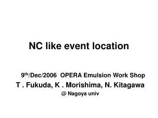 NC like event location