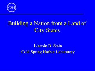 Building a Nation from a Land of City States