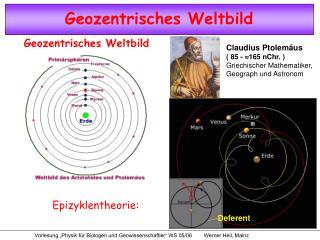 Claudius Ptolemäus ( 85 -  165 nChr. ) Griechischer Mathematiker, Geograph und Astronom