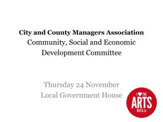 City and County Managers Association Community, Social and Economic Development Committee