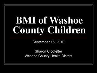 BMI of Washoe County Children