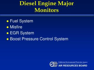 Diesel Engine Major Monitors