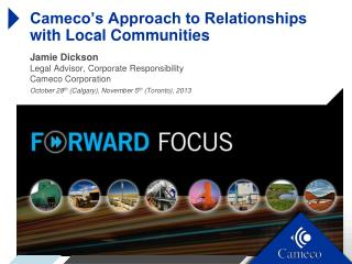 Cameco's Approach to Relationships with Local Communities
