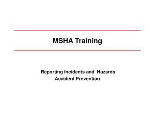 MSHA Training