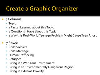 Create a Graphic Organizer