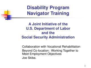 Collaboration with Vocational Rehabilitation